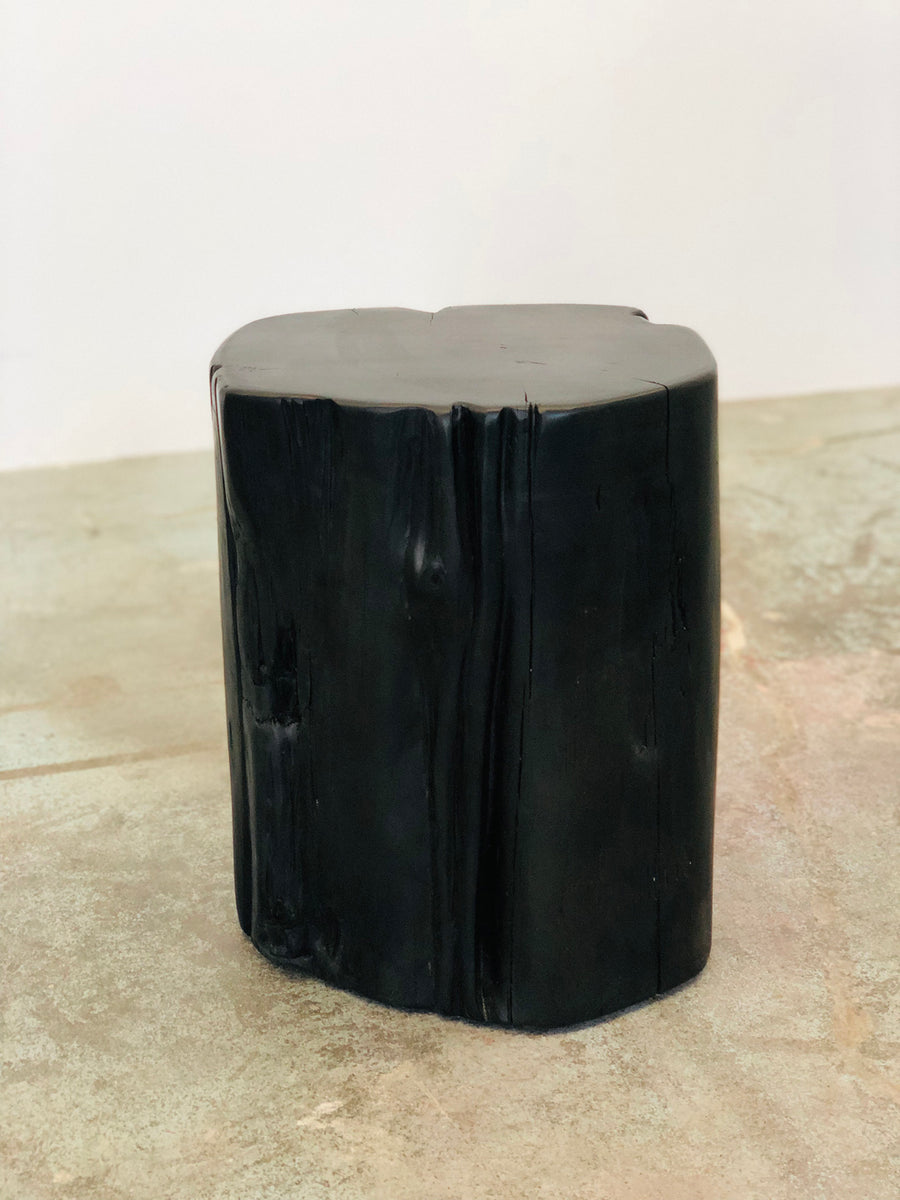 Jupiter Stump Stool - Black