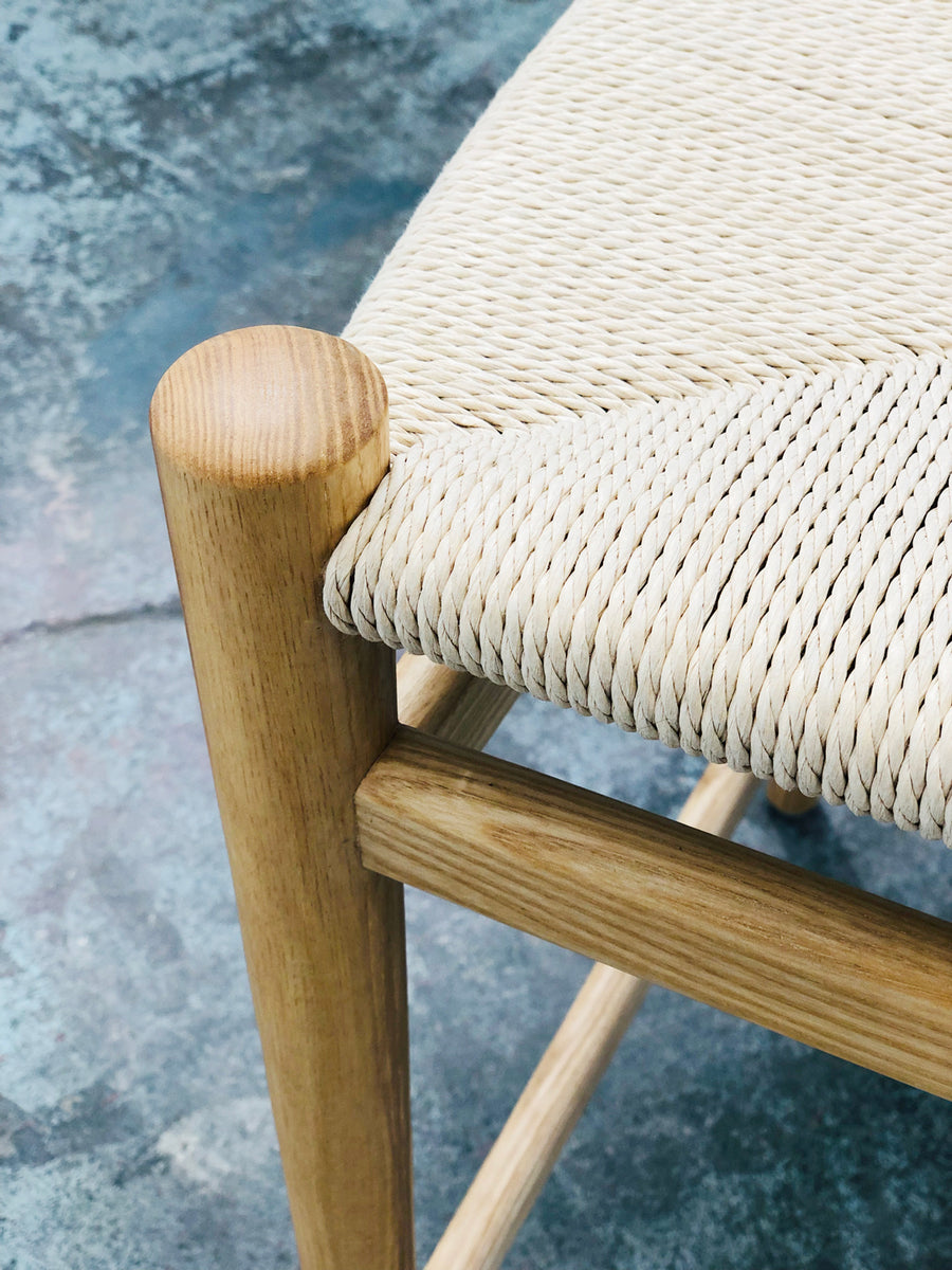 Thor Counter Stool - Ash with Natural Seat