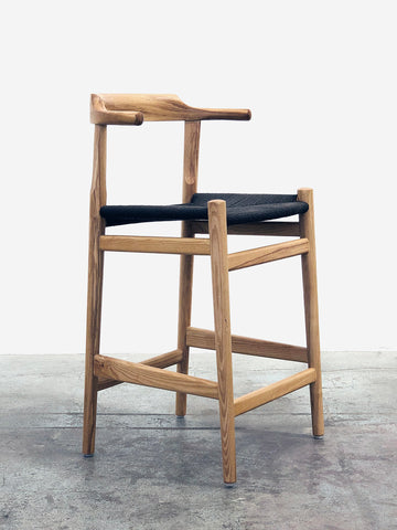 Thor Counter Stool - Ash with Black Seat