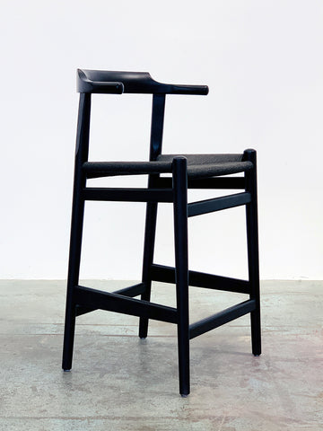Thor Counter Stool - Black Ash with Black Seat