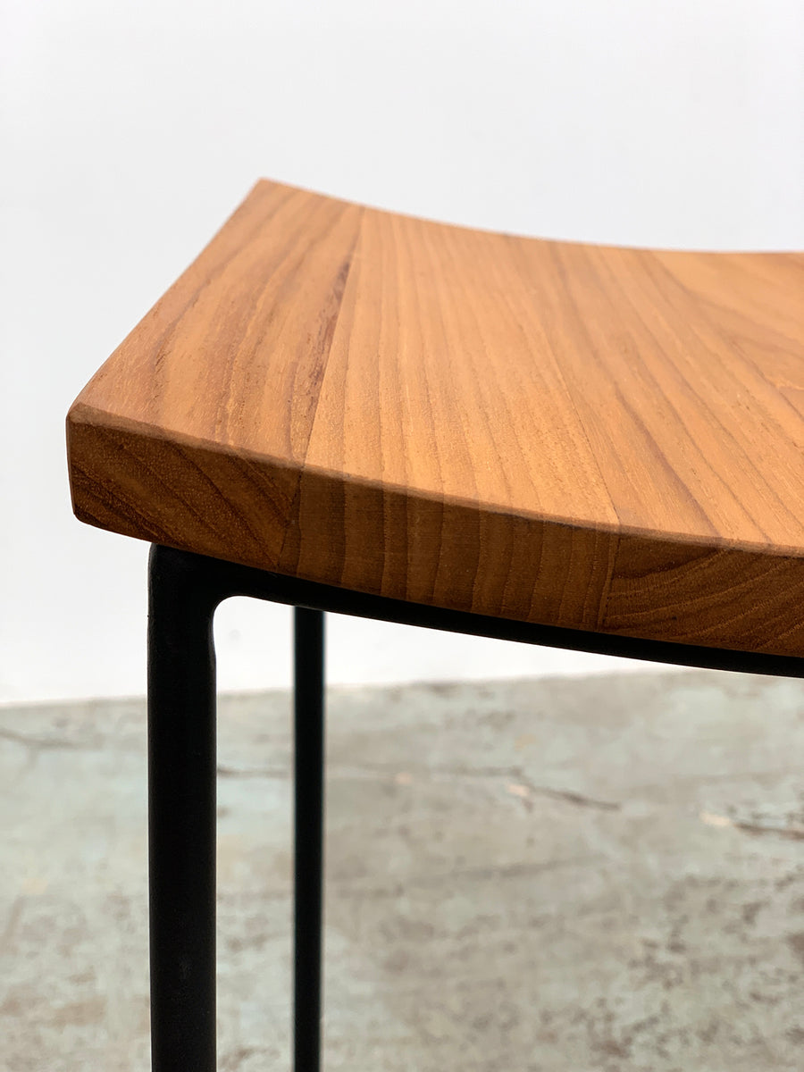Bent Counter Stool - Teak