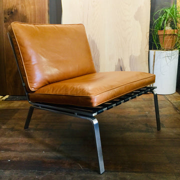 Bruno Lounge Chair - Tan Leather