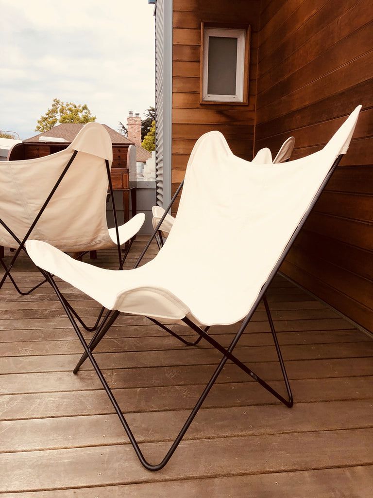 Butterfly Chair In White Sobu