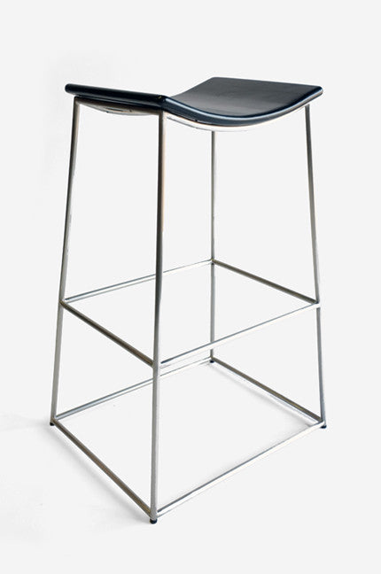 Crate Barstool in Stainless and Black