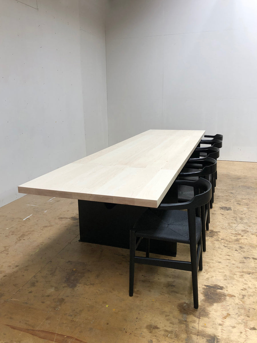 Hinge Extension Dining Table - Bleached Maple