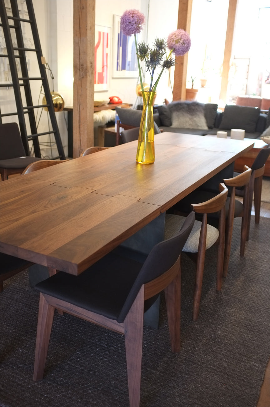 Hinge Extension Dining Table - Black Walnut