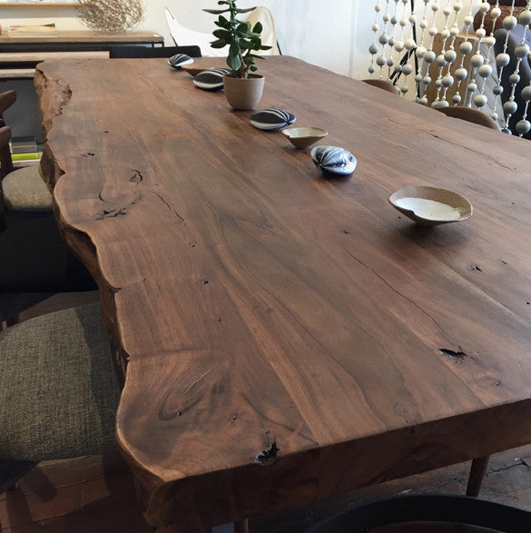 Leviathan Dining Table with solid Acacia Live Edge Top