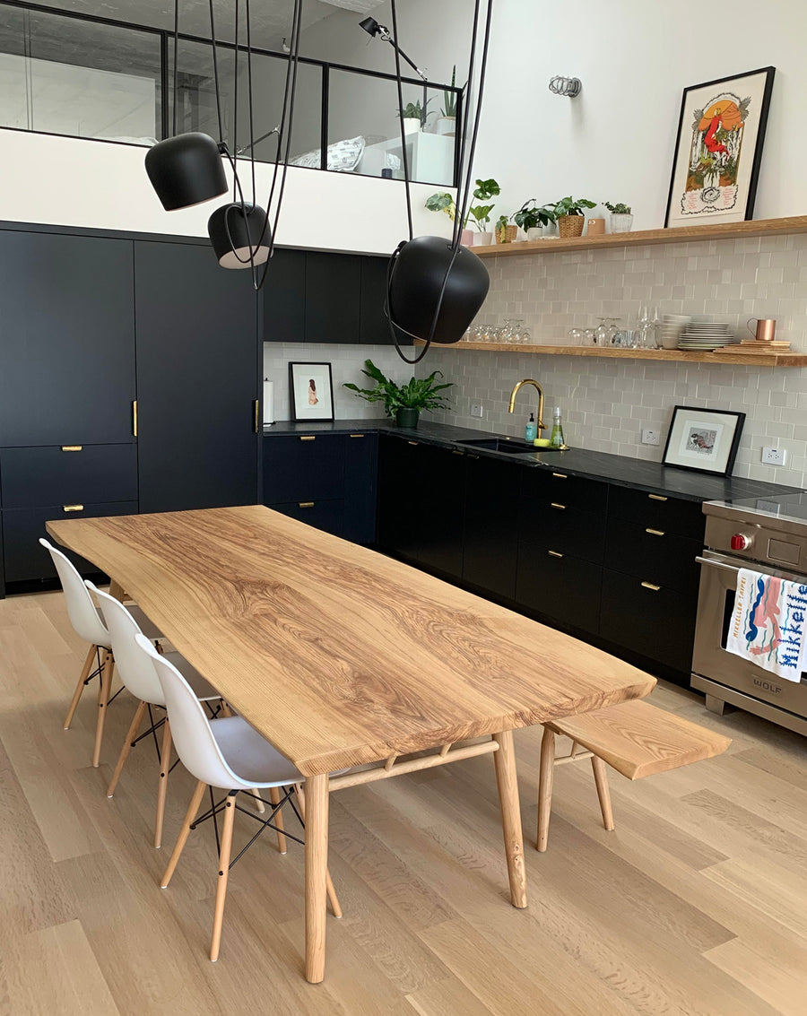 Fantastic Mars Live Edge Dining Table Ash With Wood Legs Download Free Architecture Designs Rallybritishbridgeorg