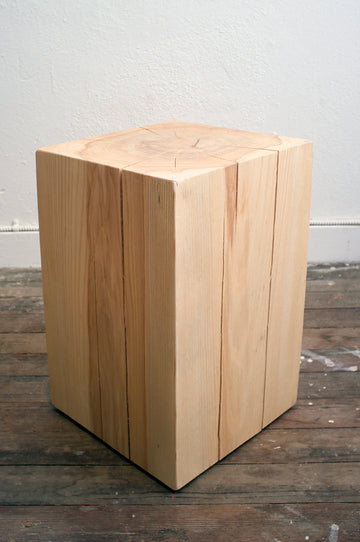 Mars Square Stump Stool - Ash