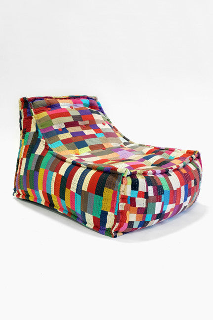 Patchwork Lounge & Ottoman