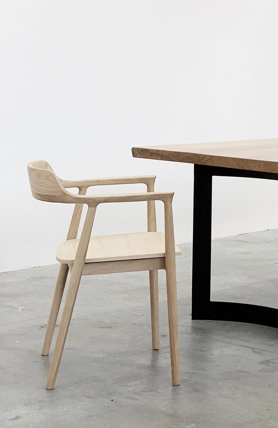 Sven Chair - White Ash + Wood Seat