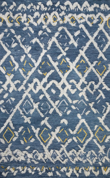 Symbology Rug - Denim / Dove