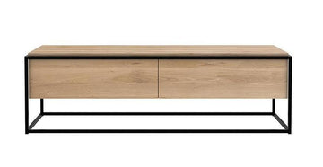 Monolit Media Cabinet - Oak with Black