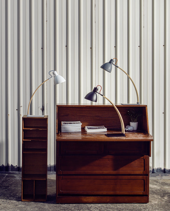 Laito Wood Table Lamp - White
