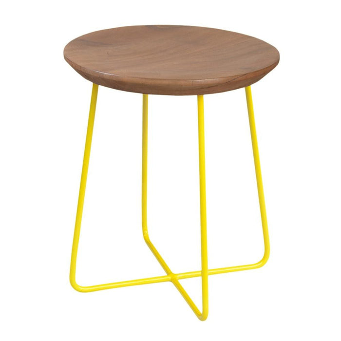 Rainbow Side Table/Stool in Yellow