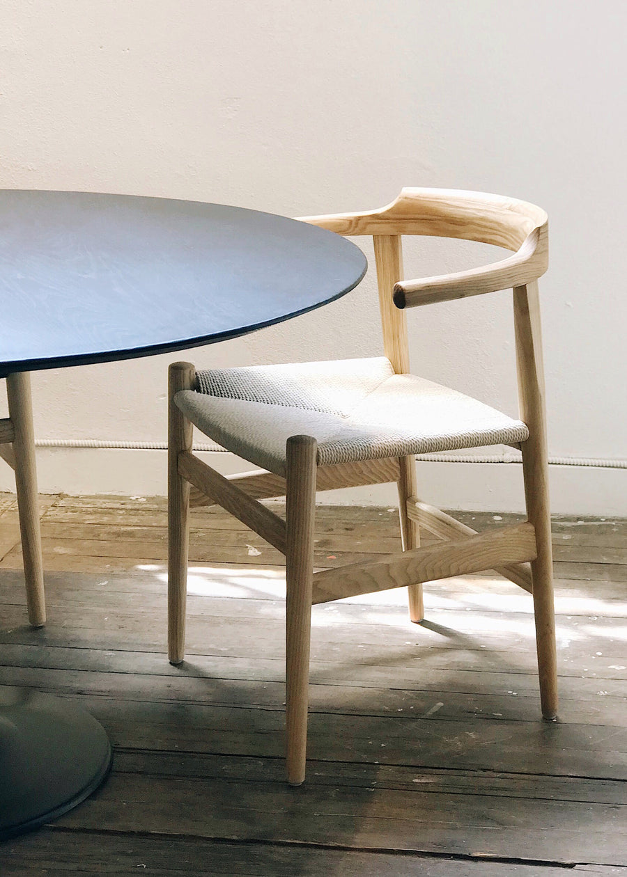 Thor Chair - White Ash with Natural Seat
