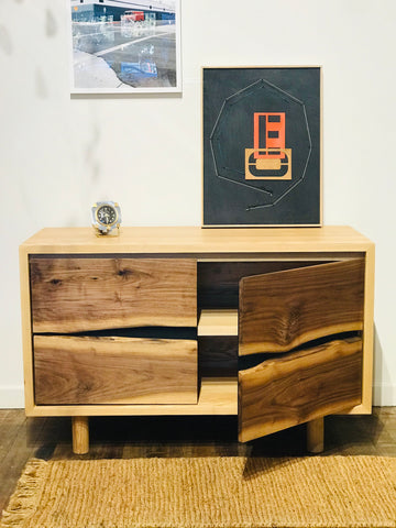Jupiter Media Console - Ash + Walnut