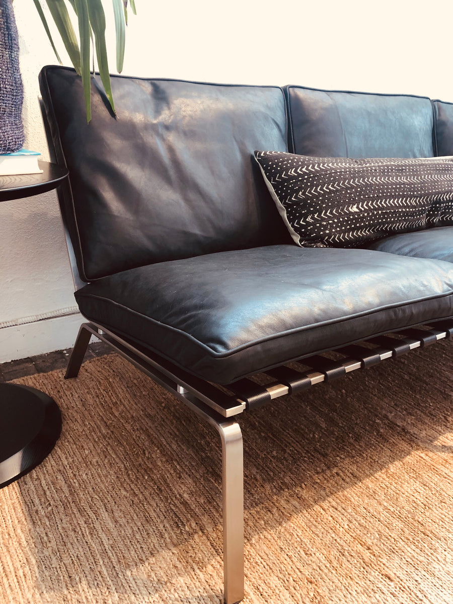 Bruno Sofa - Black Leather