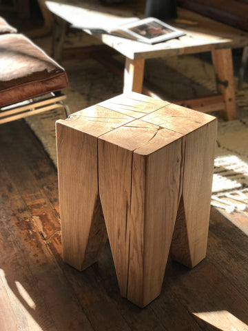 Mars Angled Stump Side Table - Ash