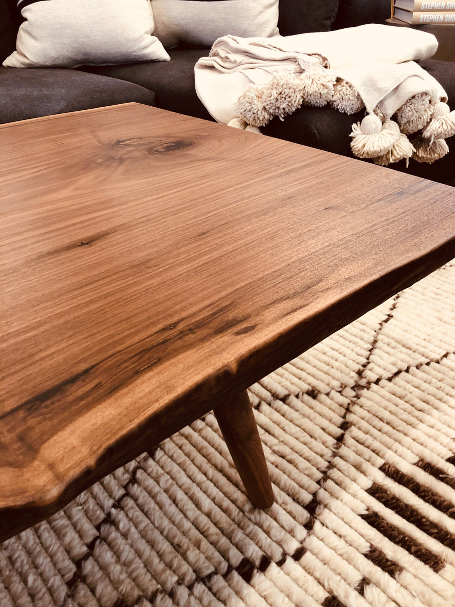 Mars Live Edge Coffee Table - Walnut