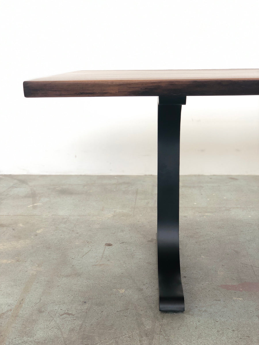 Mars Live Edge Dining Table - Walnut with T Leg