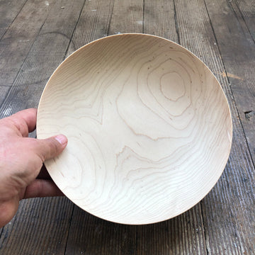 Shallow Bowl White Oak LG by Blackcreek Mercantile & Trading Co.