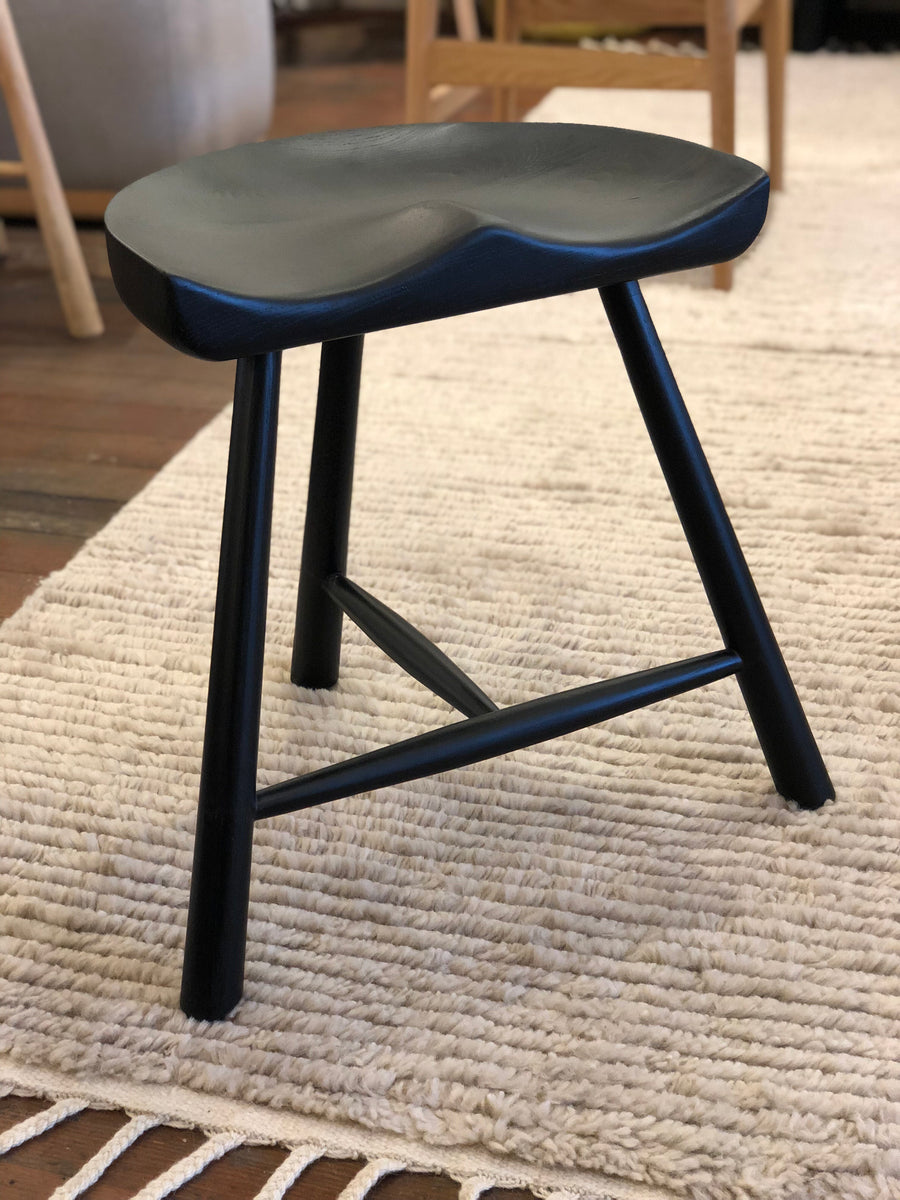 Pomerania Stool - Black Ash