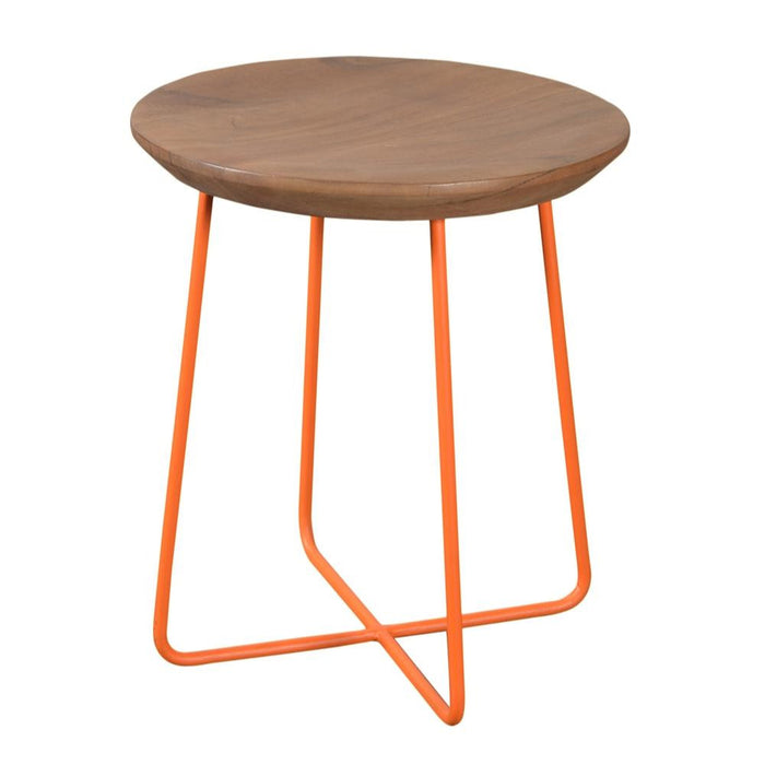Rainbow Side Table/Stool in Orange