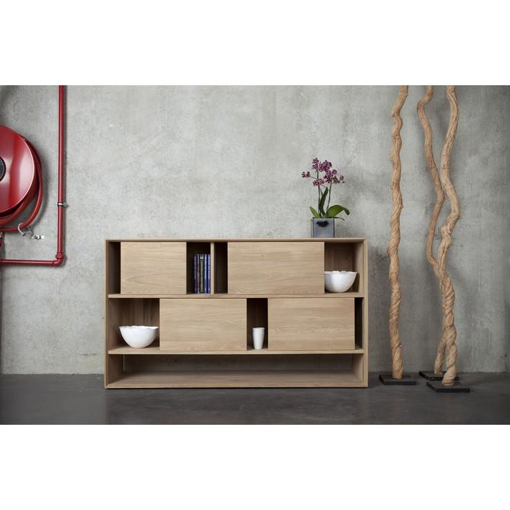 Nordic Sideboard 4 Sliding Doors - Oak