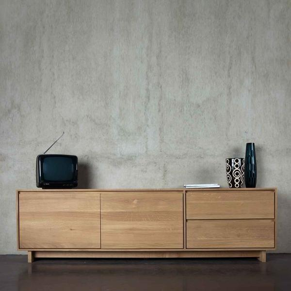 Wave TV Cupboard - Oak