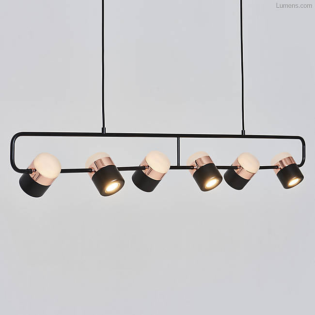 Ling Pendant 6 Black/Copper
