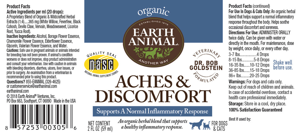 Aches & Discomfort Organic Herbal Remedy