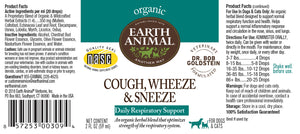 Cough, Wheeze & Sneeze Organic Herbal Remedy