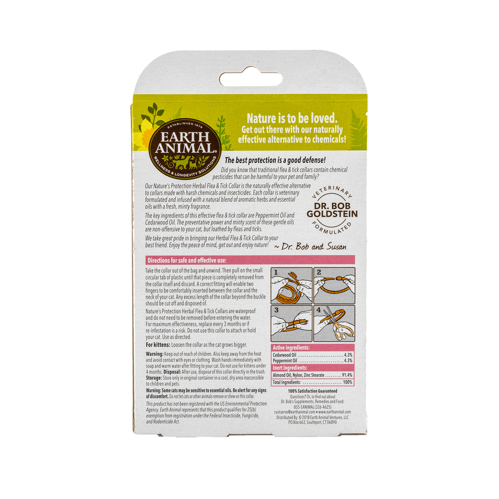 Nature's Protection™ Flea & Tick Herbal Collar for Cats