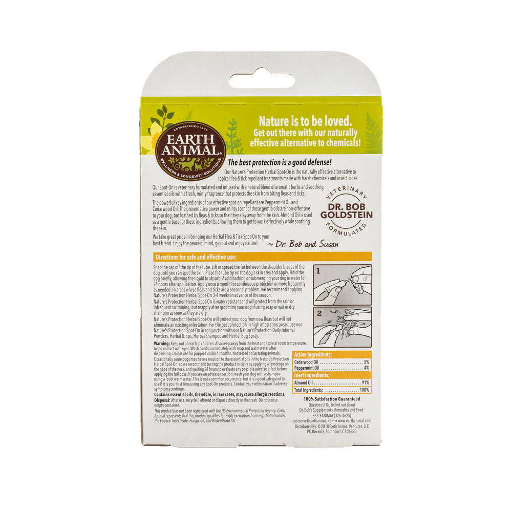 Nature's Protection™ Flea & Tick Herbal Spot-On For Dogs