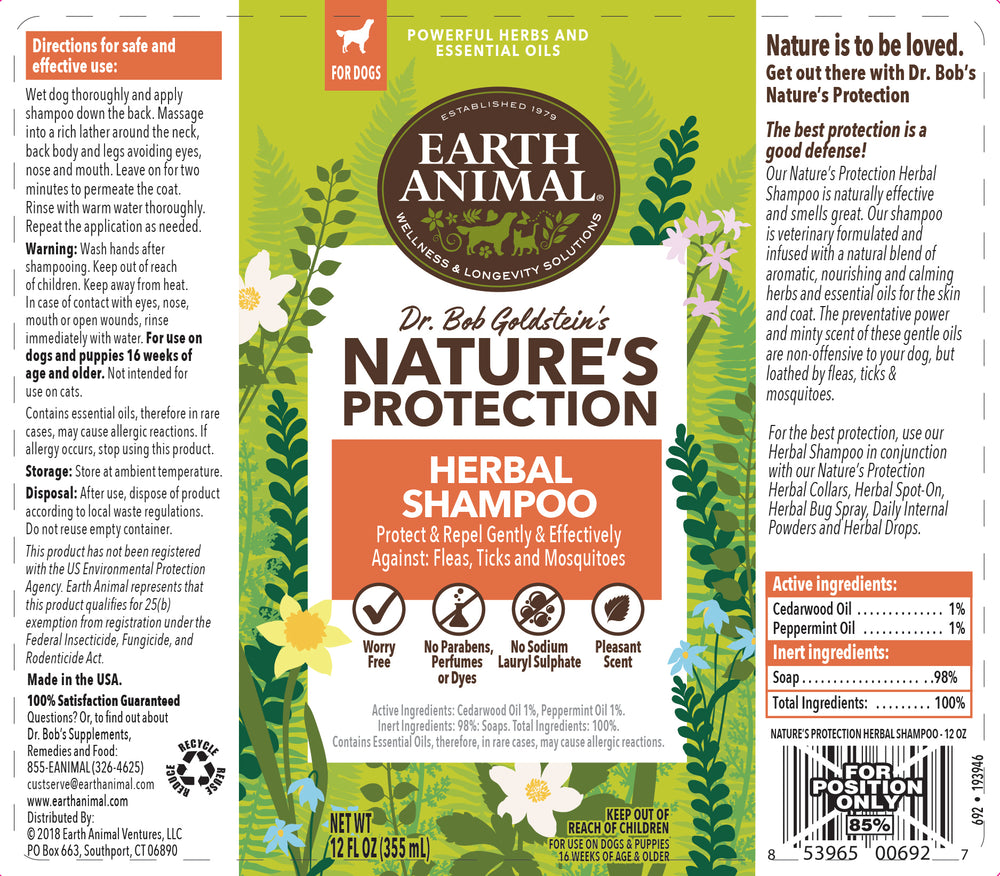Nature's Protection™ Flea & Tick Herbal Shampoo