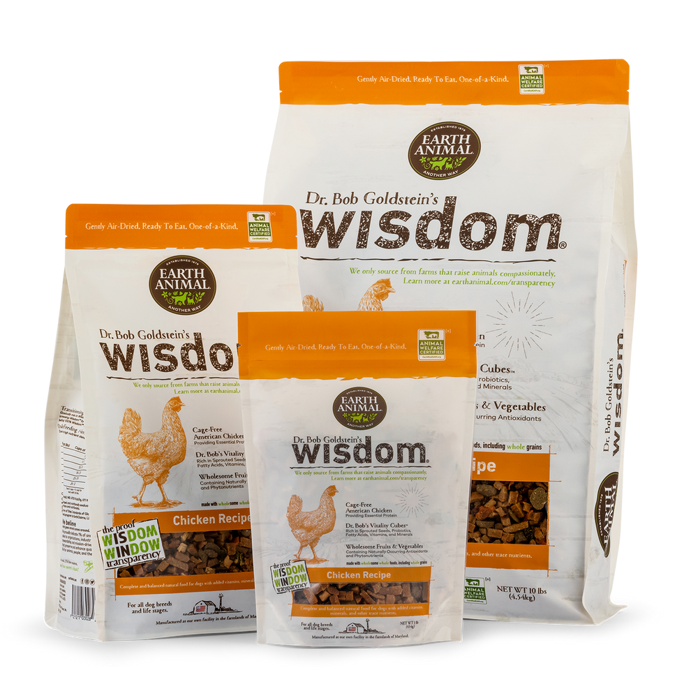 Dr. Bob Goldstein's Wisdom® Dog Food - Chicken Recipe