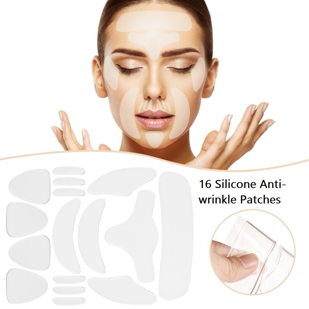 16 Pcs Reusable Silicone Anti Wrinkle Patches for Face, Forehead, Under Eye UK