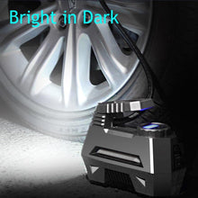 Load image into Gallery viewer, Portable Air Compressor Car Tyre Inflator with Digital Pressure Gauge (150 Psi 12V DC) and Bright Emergency Flashlight