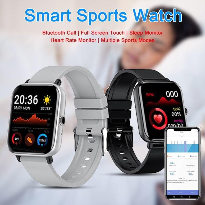 2021 New Smart Watch for Men Women with Heart Rate Monitor, Blood Oxygen Monitor, Bluetooth
