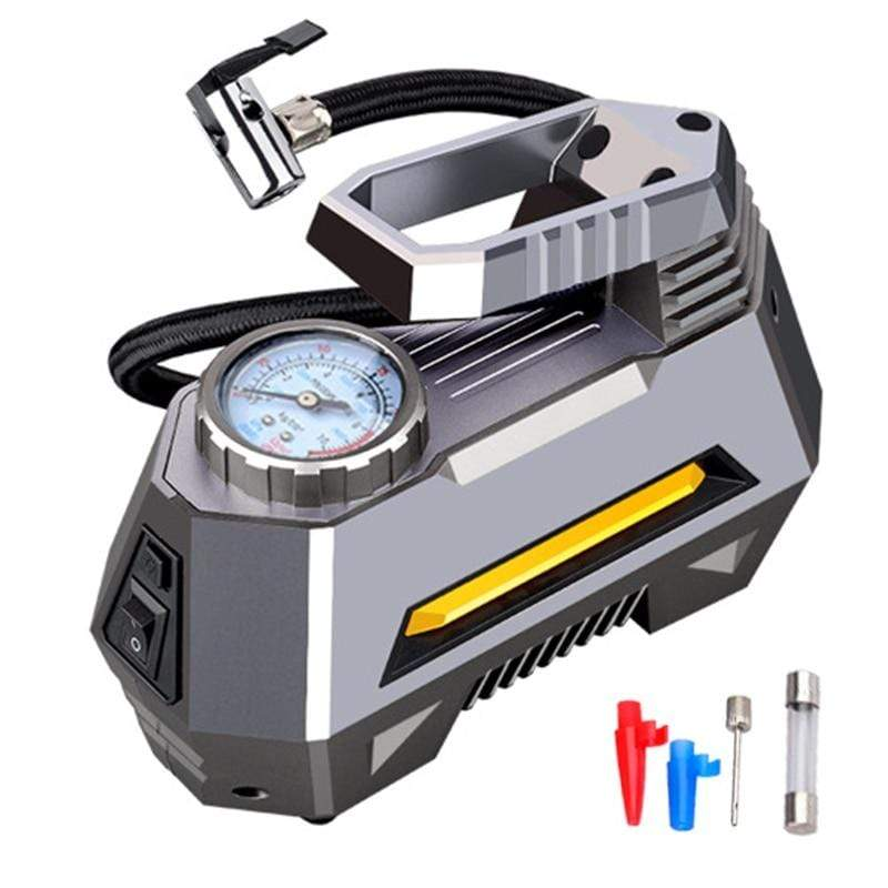 Portable Air Compressor Car Tyre Inflator with Digital Pressure Gauge (150 Psi 12V DC) and Bright Emergency Flashlight