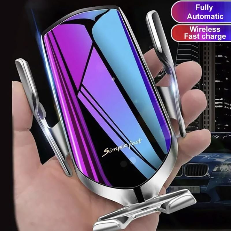 Iphone, Samsung wireless car charger mount, for Samsung S10 S9 S8, iPhone X XR XS11 8 and holder mount, fast charging with automatic clamping