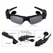 Load image into Gallery viewer, Smart Cycling Sunglasses with Bluetooth Earphone / Headphone and Microphone