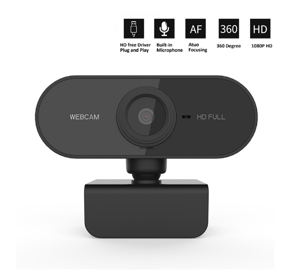 1080p HD Webcam with microphone Webcam - Rotatable Cameras