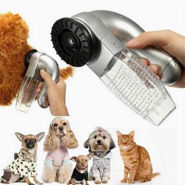 Pet Hair Vacuum Remover Grooming Tool - Cordless for Cats, Dogs