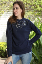 Load image into Gallery viewer, Black Beaded Sweatshirt + colours