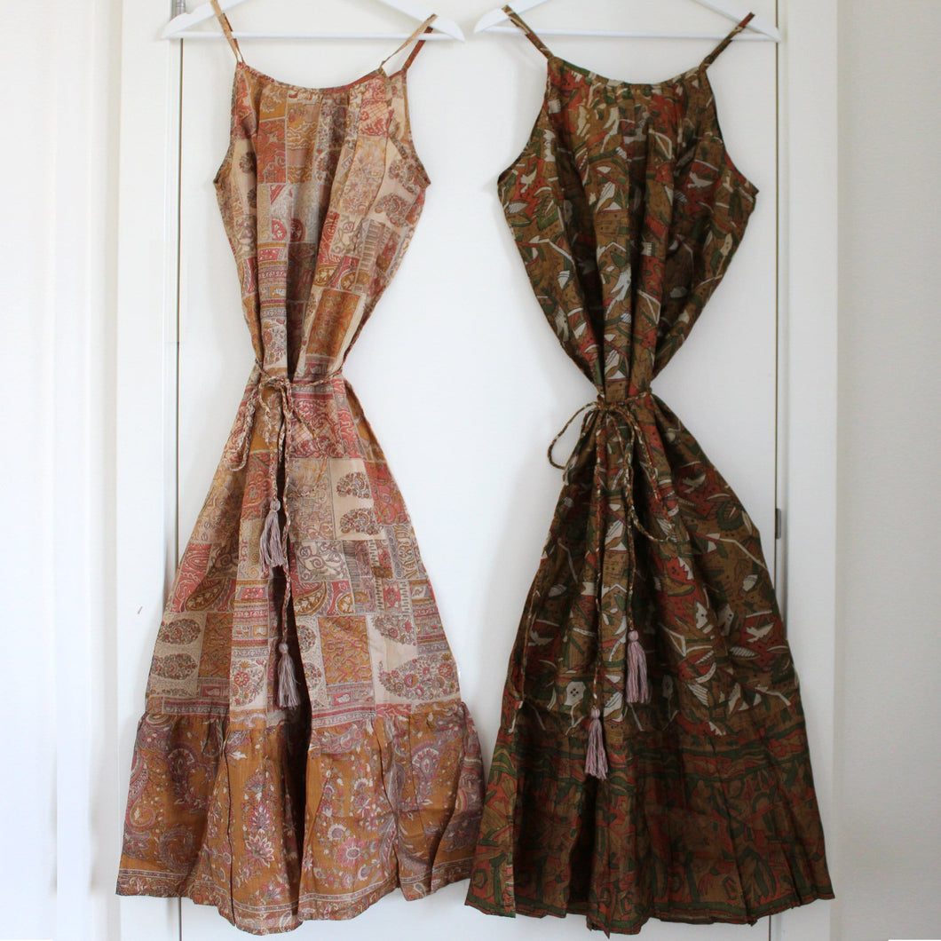 2 Recycled Silk Dresses