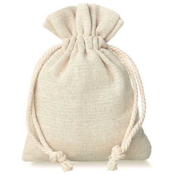 Natural Jute Drawstring Pouch Bag (5 Pieces)