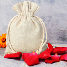 Load image into Gallery viewer, Natural Jute Drawstring Pouch Bag (5 Pieces)