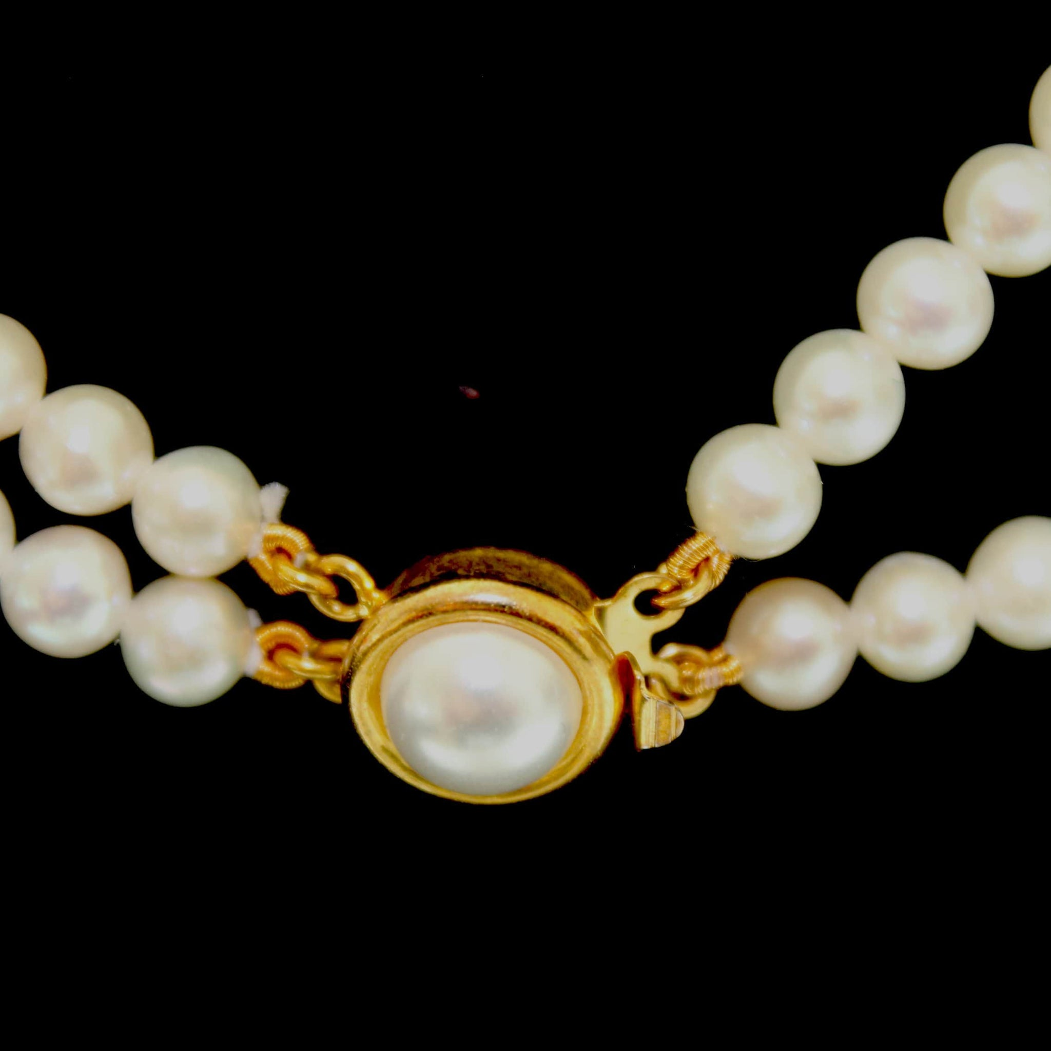Natural Water Pearl Necklace (Double Strand)
